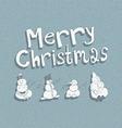 Four snowman Vintage Christmas card vector image