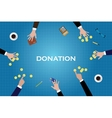 give donation donate help people money gold coin vector image vector image