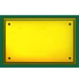 gold metallic plate vector image