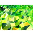Green abstract background with triangles vector image vector image