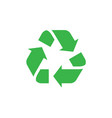 green recycle sign isolated vector image