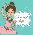 green template with text and ballet dancer vector image vector image