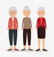 group of granmothers characters vector image vector image