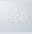 hanging paper christmas tree vector image vector image