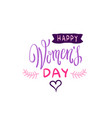 happy women day seal design stylish sketch vector image vector image