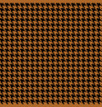 houndstooth fabric vector image vector image