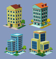 isometric building 3 vector image vector image