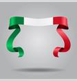 italian flag wavy ribbon background vector image
