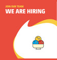 join our team busienss company ice cream we are vector image vector image