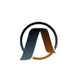 letter a logo gold logo design concept template vector image vector image