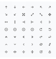 Line Arrow icon set vector image vector image