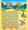 maze 3 with pterodactyls vector image vector image