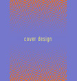 minimalistic colorful abstract cover vector image