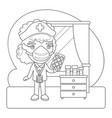 nurse coloring page vector image
