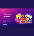 obstructive pulmonary disease concept landing page vector image vector image