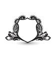 ornate heraldic shields vector image
