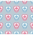 pacifier pattern vector image vector image