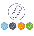 paper clip icon in circles of different color vector image