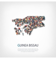 people map country Guinea Bissau vector image vector image