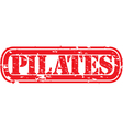 Pilates stamp vector image