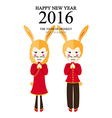rabbit girl boy vector image vector image