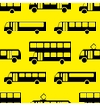 Retro bus seamless pattern vector image