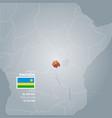 rwanda information map vector image vector image