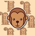 safari animal card vector image vector image