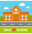 School building with clock and windows City vector image vector image