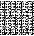 seamless ikat pattern with black and white vector image