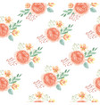 seamless pattern floral lush watercolour style vector image vector image
