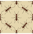 Seamless pattern with ant Formica exsecta hand vector image