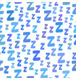 seamless pattern with cartoon letters z good night vector image vector image