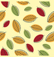 seamless stylized leaf pattern vector image vector image