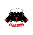 Security Agency Cerberus Logo for security company vector image