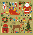 set christmas and new year design elements vector image vector image