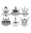 set of candle shop labels Isolated logos vector image vector image