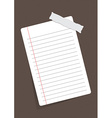 sheet of paper stuck with sticker vector image vector image