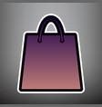 shopping bag violet gradient vector image vector image