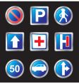 signs of road vector image
