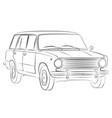 sketch of retro car vector image