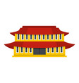 small temple icon flat style vector image vector image