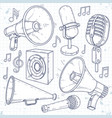 speaker horn microphone and speaker surrounded vector image vector image