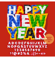 Sticker Happy New Year 2017 greeting card vector image vector image