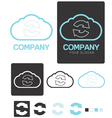 Sync Cloud Computing company logo template