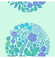 Tattoo floral doodle elements vector image