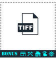 tiff file icon flat vector image vector image