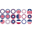 us flag round vector image