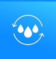 water recycling icon vector image vector image
