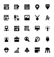 Web Design and Development Icons 4 vector image vector image